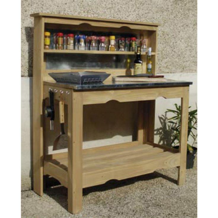 Table plancha en bois traité