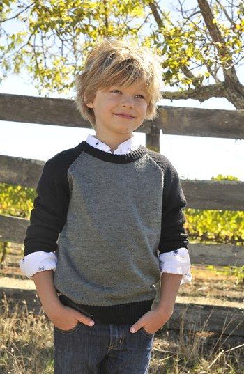 Peek Raglan Sweater & Jeans (Little Boys & Big Boys) available at #Nordstrom
