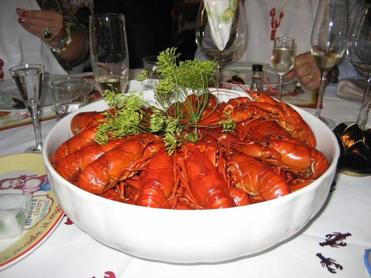 Crayfish, Swedish style.