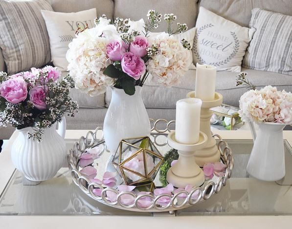 13 Ways To Decorate A Tray For Spring Coffe Table Decor Living Room Decor Rustic Tray Decor