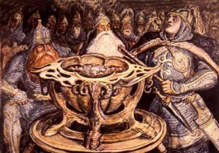 Нарты называют свою волшебную чашу Нартамонга, иногда Уацамонга или просто Амонга.