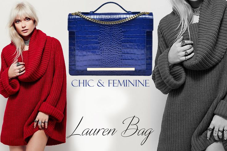 The blue Lauren bag is an exquisite accessory made of natural leather with croc effect @comenziwildinga