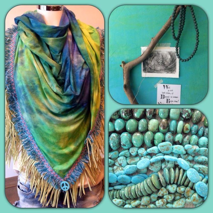 Tie-dye blue/green