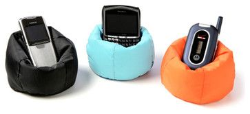 Beanbag Cell Phone Chair - eclectic - desk accessories - The Spoon Sisters