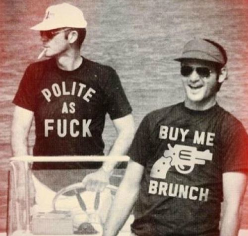Hunter S. Thompson & Bill Murray gotta print it out and hang in the living room