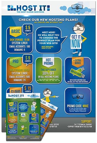 Дизайн на флаер за хостинг компания  Flyer for hosting company!