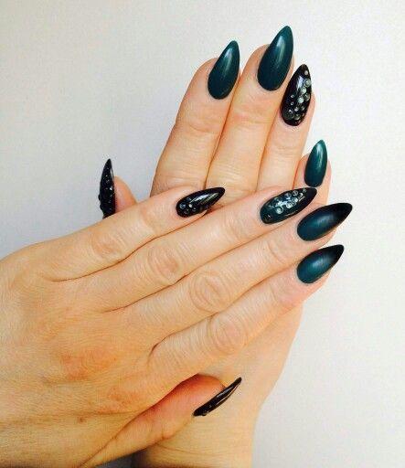 zielono czarne ombre