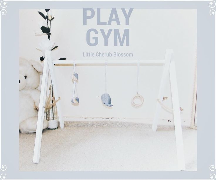 Our custom wooden play gym for your babies 💕