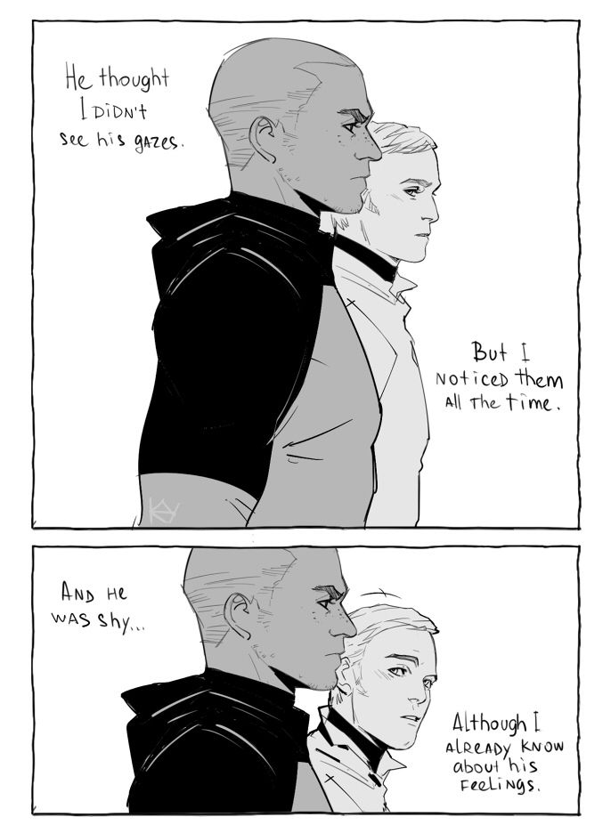 Detroit become human | DBH | Markus and Simon | 1/4 | comics