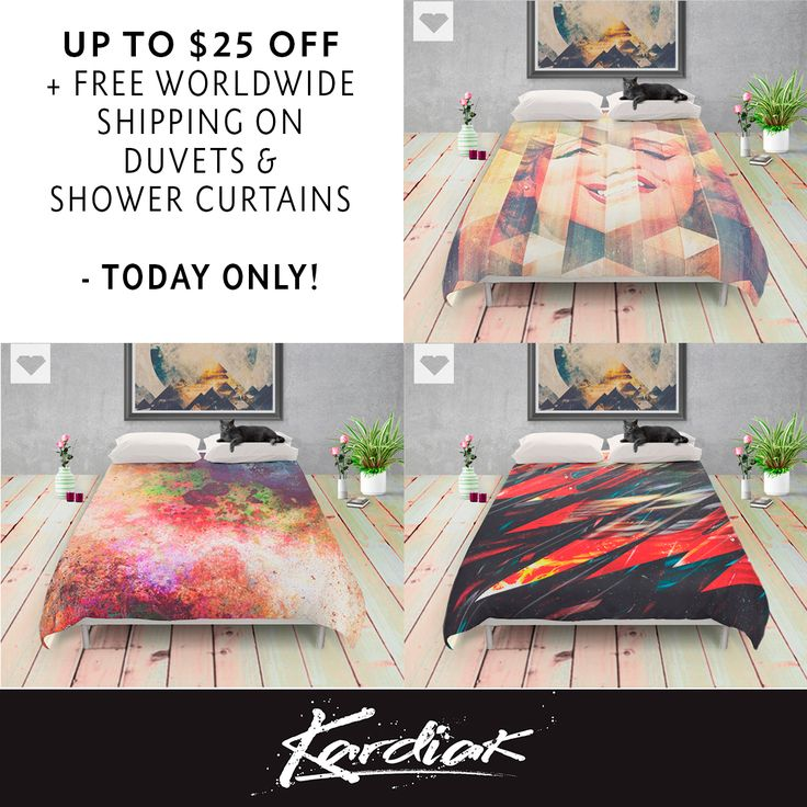 UP TO $25 OFF + FREE SHIPPING ON #DUVETS & #SHOWERCURTAINS - TODAY ONLY AT Society6 ->