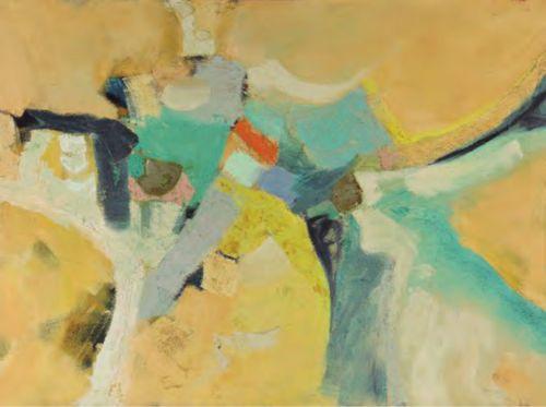 Victor Barriere| 1944-| Salvadoran Abstracción| 1984| Óleo sobre lienzo| Colección MARTE