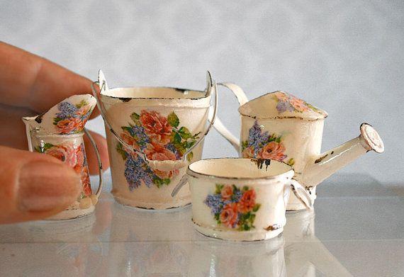 Floral Garden Kit  Dollhouse  Miniature