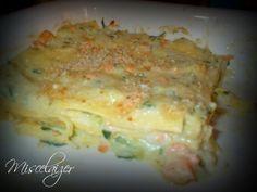 Lasagne al salmone e crema di zucchine
