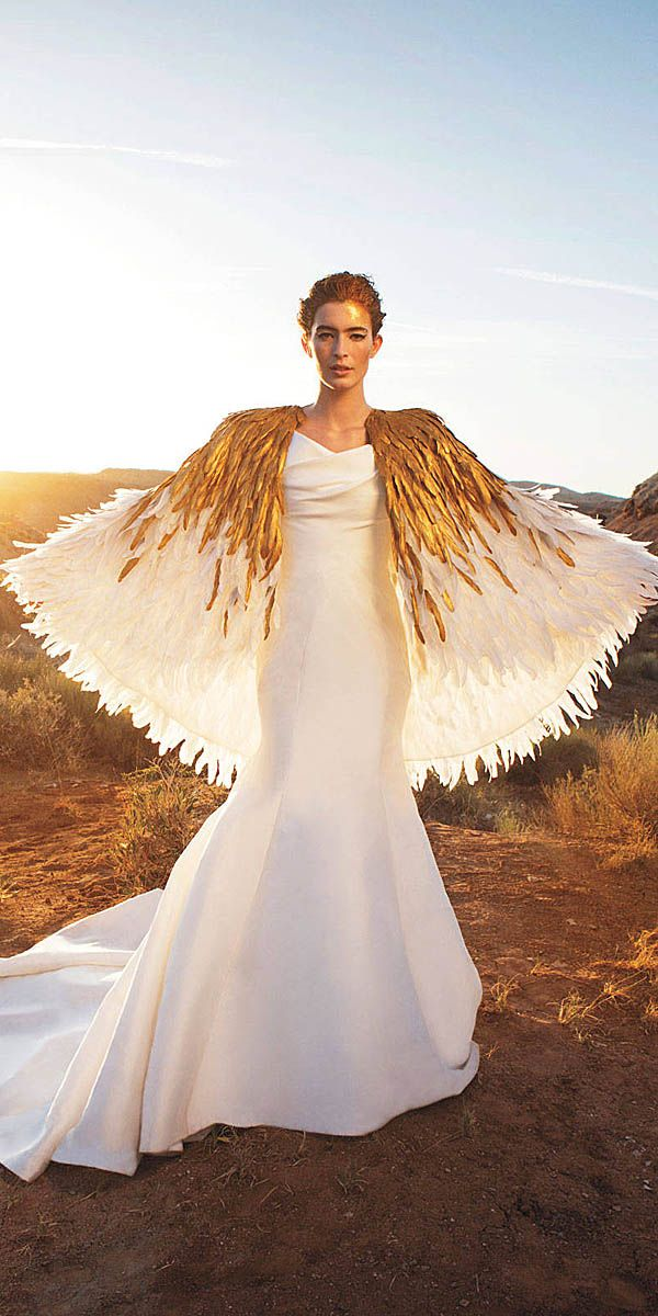 24 Beautiful Feather Wedding Dresses -Trend For 2016