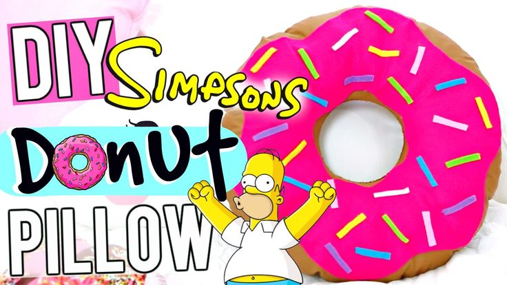 DIY The Simpsons Donut Pillow!. How To TUMBLR Donut Pillow
