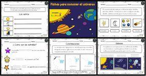 Trabajamos conceptos relacionados con los Planetas y el Universo Fichas sencillas para conocer un poquito el universo.Es uno de los temas más apasionantes para los pequeños científicos, cuando en Primaria comienzan a entender cómo...