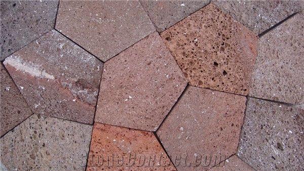 45 best pentagon tiles images on pinterest tiles for Lava rock pavers