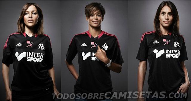 Todo Sobre Camisetas: Maillot Adidas Especial del Olympique de Marsella 2012 (Solidara Anti-Cancer de Mama)