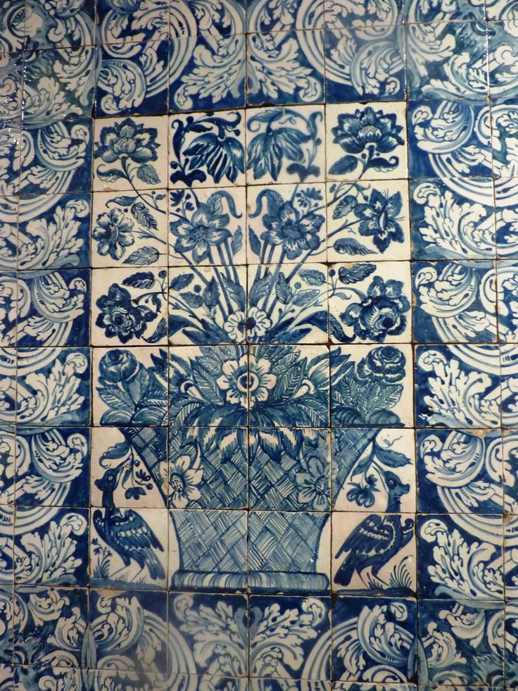Blue and White Flower vasse panel