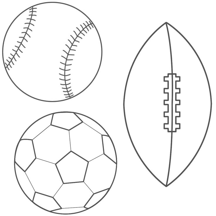 Baseball Football Soccer Ball Coloring Page