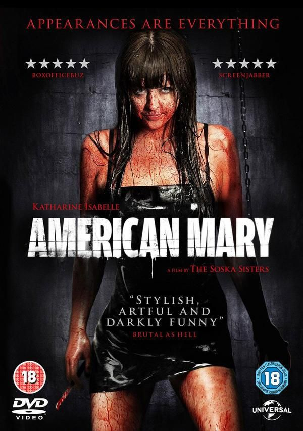 """""""American Mary"""" - The allure of easy money sends Mary Mason, a medical student, into the world of underground surgeries which ends up leaving more marks on her than her so called """"freakish"""" clients. Katharine Isabelle is AMAZING. Image and info credit: IMDb."""