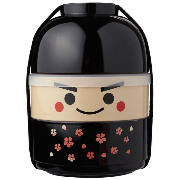 Kokeshi Bento Ichiro Kokeshi Bento Box ($24) ❤ liked on Polyvore featuring home, kitchen & dining, food storage containers, bento lunch box, compartment lunch box, bento box and bento lunchbox