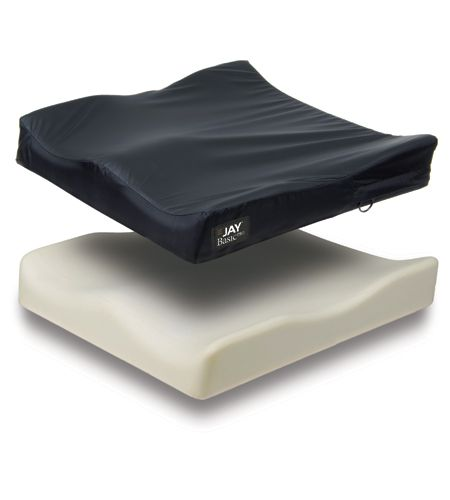 the jay basicpro is a moderately contoured general use wheelchair cushion with an easytoclean cover