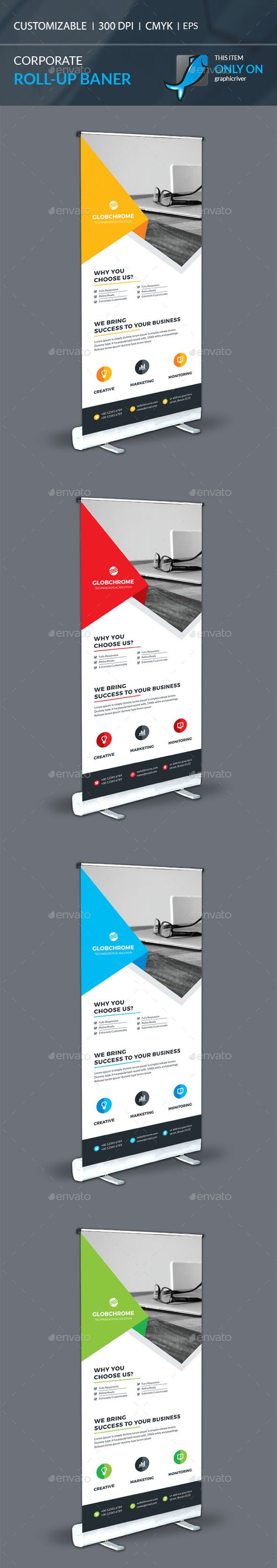 Corporate Roll-Up Template Vector EPS, AI. Download here: http://graphicriver.net/item/corporate-rollup/15719123?ref=ksioks
