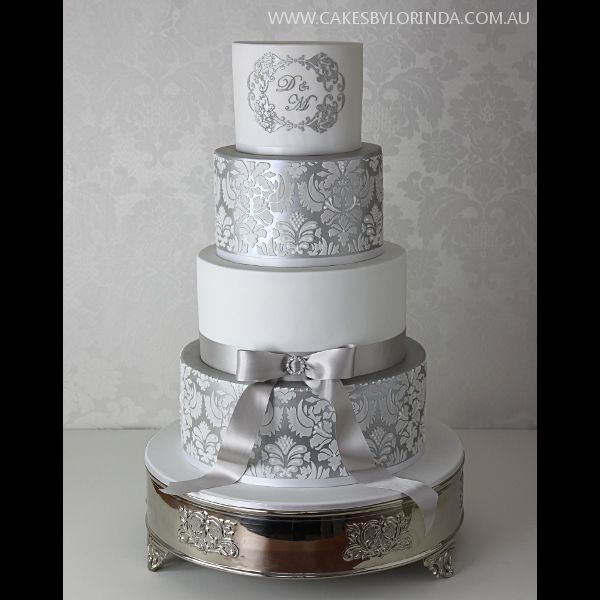silver wedding cake pics 157 best images about damask wedding inspiration on 19880