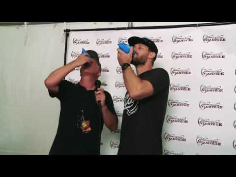Chase Rice Takes A Blue Chair Bay Rum Shell Shot At Country Stampede