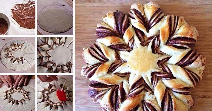 Skvělá sladká dobrota nejen pro malé, ale i velké. Vhodný koláč ke kávičce nebo čaji. Mňamka! Nutellový kvítek.