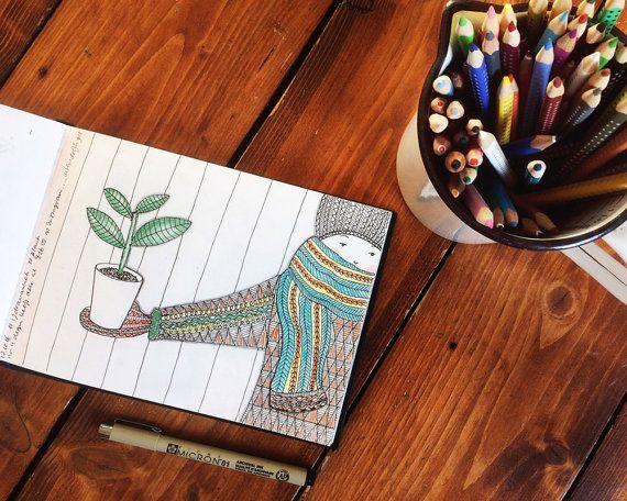Kaart Plant Illustratie Esther Mols  Handgetekend, gescanned, gedigitaliseerd en bewerkt in Photoshop. Ze kunnen verstuurd worden maar in een lijst aan de muur staan ze ook prachtig.  • Details • Papier: gedrukt op 300 gram papier. De achterkant is beschrijfbaar Formaat DIN A5 (14,8 x 21 cm)  Werkelijke kleuren kunnen afwijken van de kleuren op het beeldscherm.  Vragen of opmerkingen? Stuur me een berichtje en ik help je graag! :-)