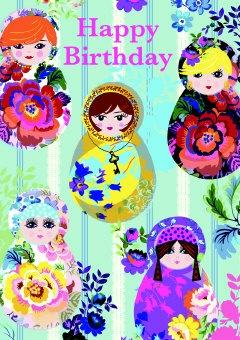 Cea De Ea Matryoshka Doll Happy Birthday Cards Jpg 240x340 Funny In Russian
