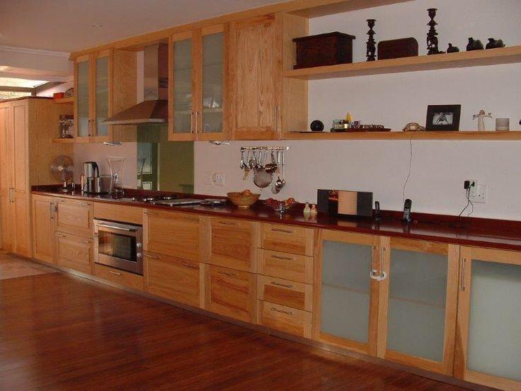 Solid ash and mahogany kitchen!