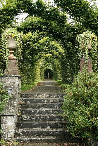 Birr Castle--formal garden arbor, Ireland .