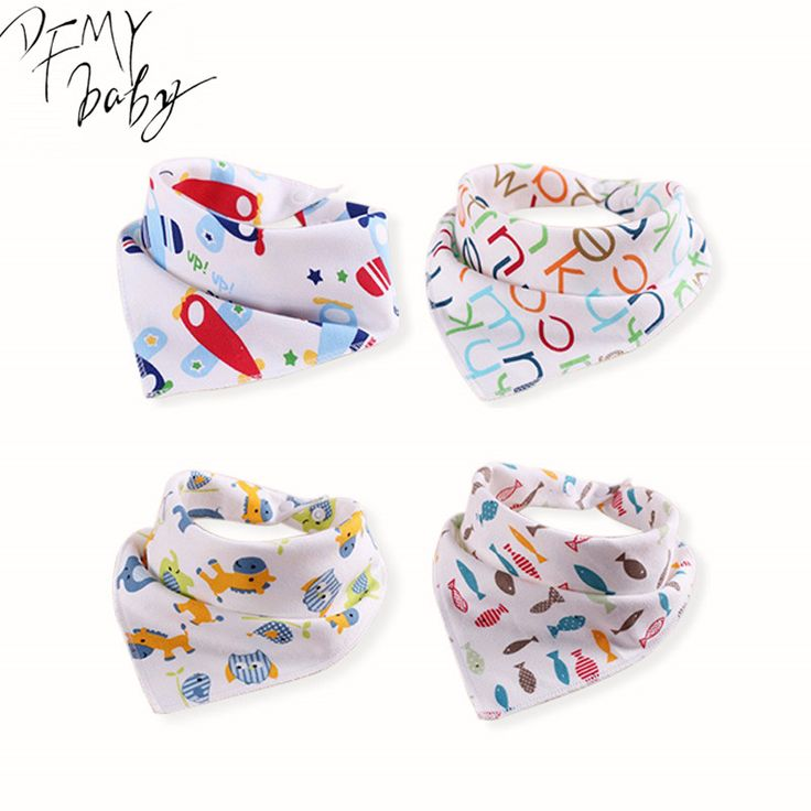 100%Cotton Baby Bibs Bandana Bibs Baby Clothing Girls Boys Baby Baberos Cartoon Character Animal Print