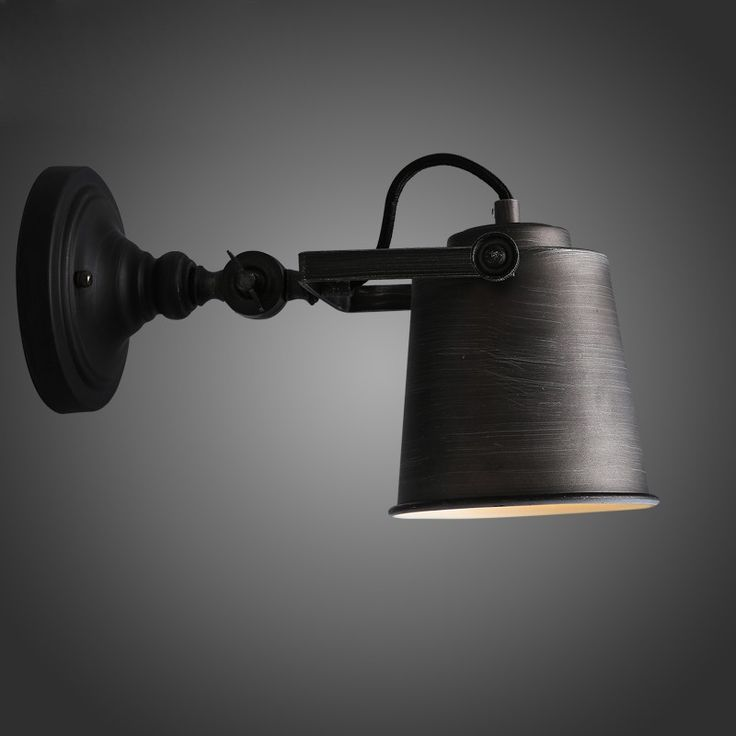 Interior Wall Mount Light Fixtures: Rustic Adjustable Single Light Industrial Wall Sconce Fixture - Indoor  Sconces - Wall Lights - Lighting,Lighting