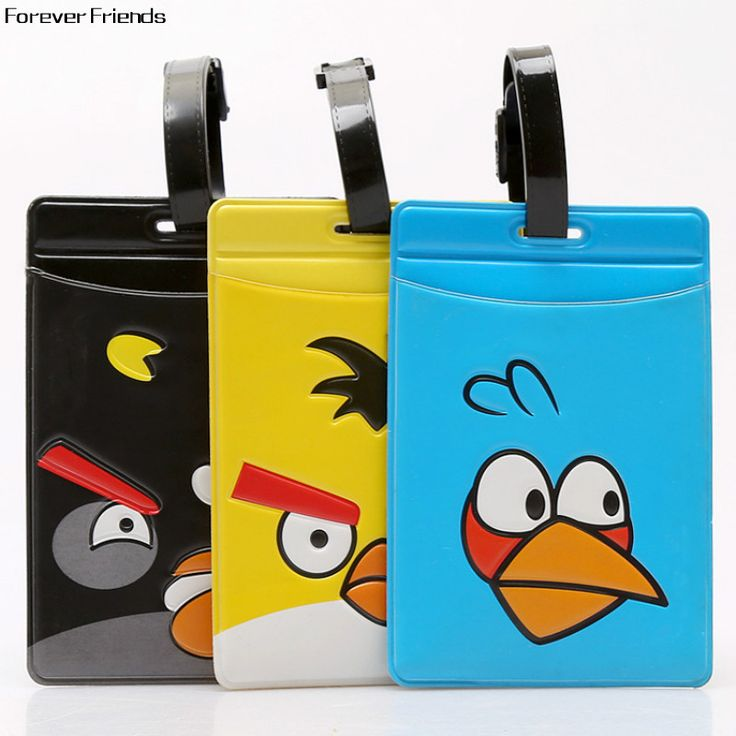 ForeverFriends Lovely bird cute luggage tag Bus card set,Bag Parts & Accessories for Travel,3 color for choose