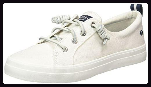 Sperry Damen Crest Vibe Wash Sneaker, Weiß (White), 36 EU - Sneakers für frauen (*Partner-Link)