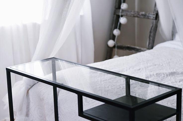 VITTSJÖ Laptoptable black and glass #myIKEAbedroom