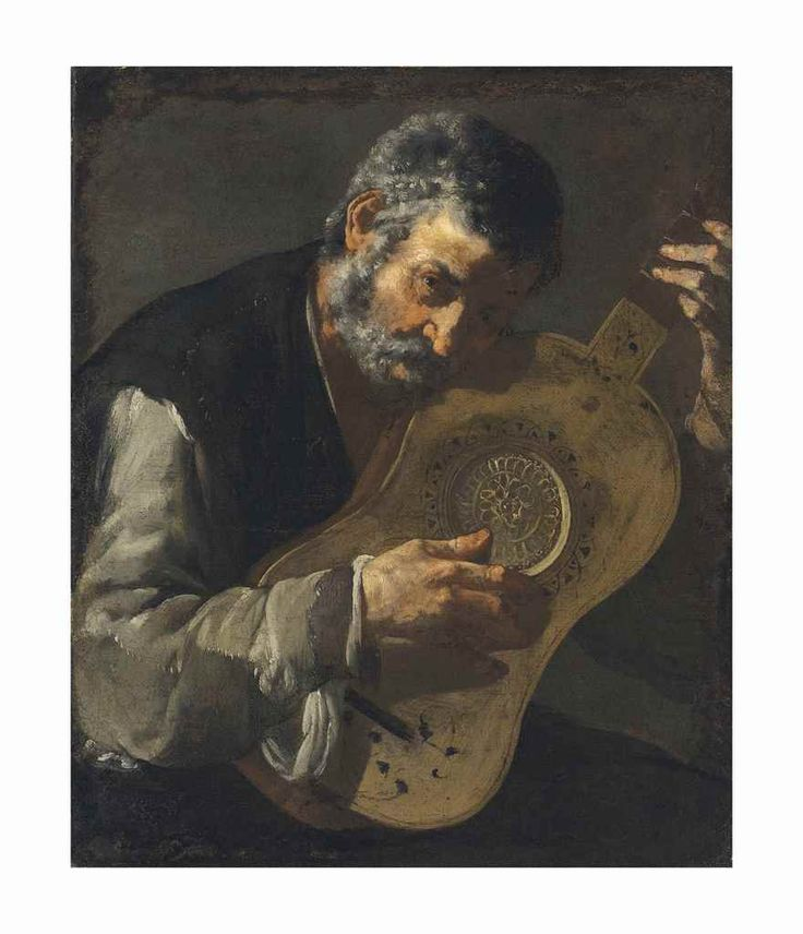 A MAN PLAYING THE GUITAR. oil on canvas. 76,3 × 62,5 cm. Provenance: Christie's, London, 03/07/2013, Lot 199. Christie's. London. King Street. Old Masters. 07/07/2017. Lot 125. Estimate: 30.000/50.000 £.