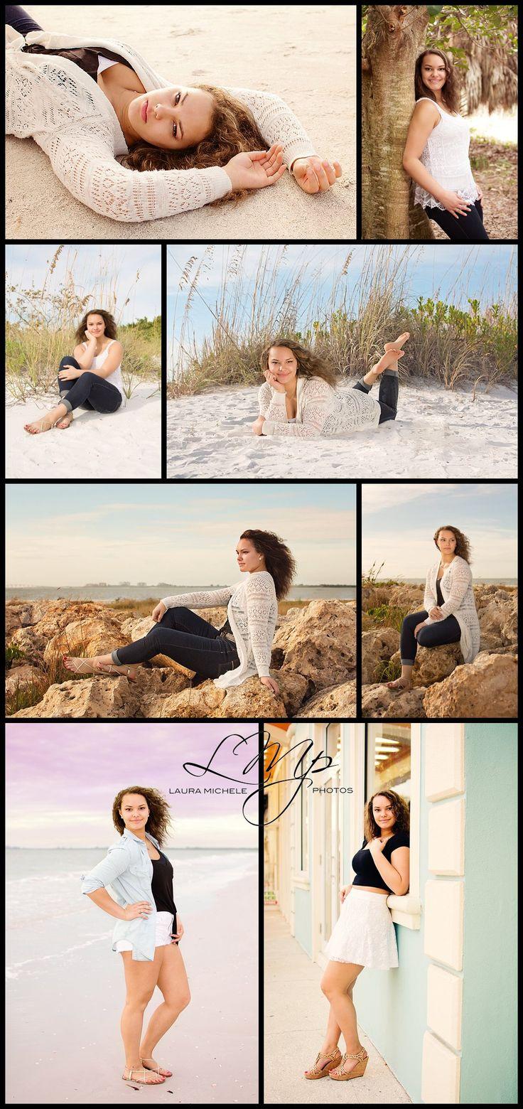 High school senior portraits on the beach, Fort Myers Beach