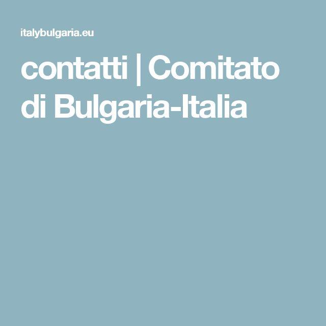 contatti | Comitato di Bulgaria-Italia