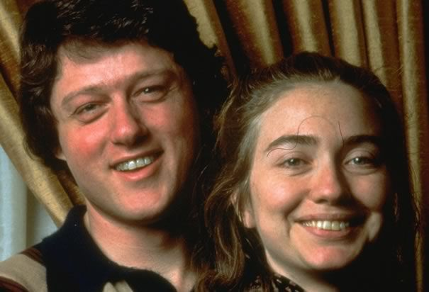 Hillary Clinton and Bill: In 1975, Clinton married Hillary Rodham. Bill and Hillary met in 1972 while both were studying law at Yale University. Both worked on George McGovern's 1972 presidential campaign. They both got better looking with age!