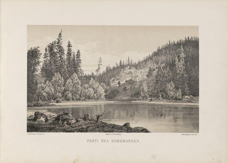 Norge fremstillet i Tegninger - Johan Fredrick Eckersberg - Parti fra Nordmarken. jpg (6088×4360)