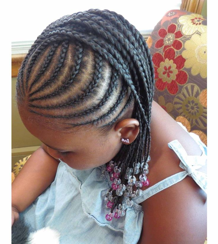 Braided hairstyles for little black girls with different details ...