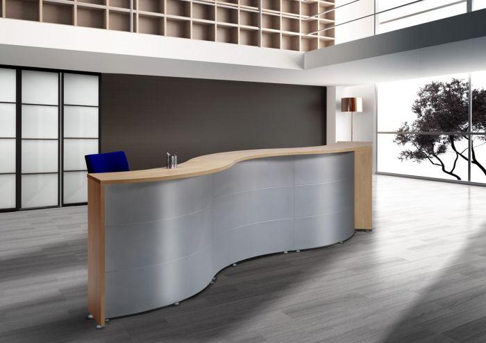 Mostrador curvo muebles para despachos material de for Muebles de oficina barcelona