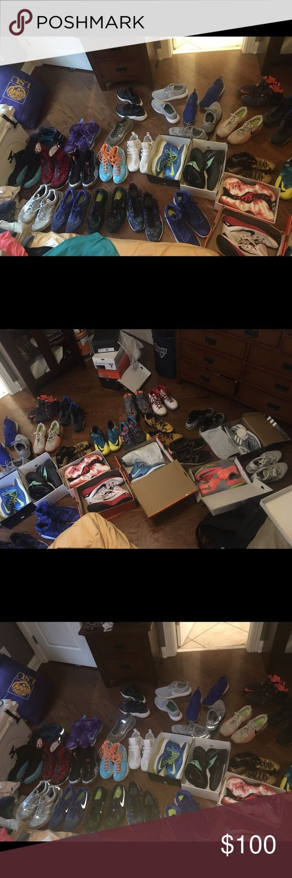 Men's shoes size 13 and 14 Jordan's. Foams. Kobes. KDs. Kyries. Lebron. NMD. Yeezys. Air max. Roshe. Huaraches. Prestos. Cole Haan. Make offers. Shoes
