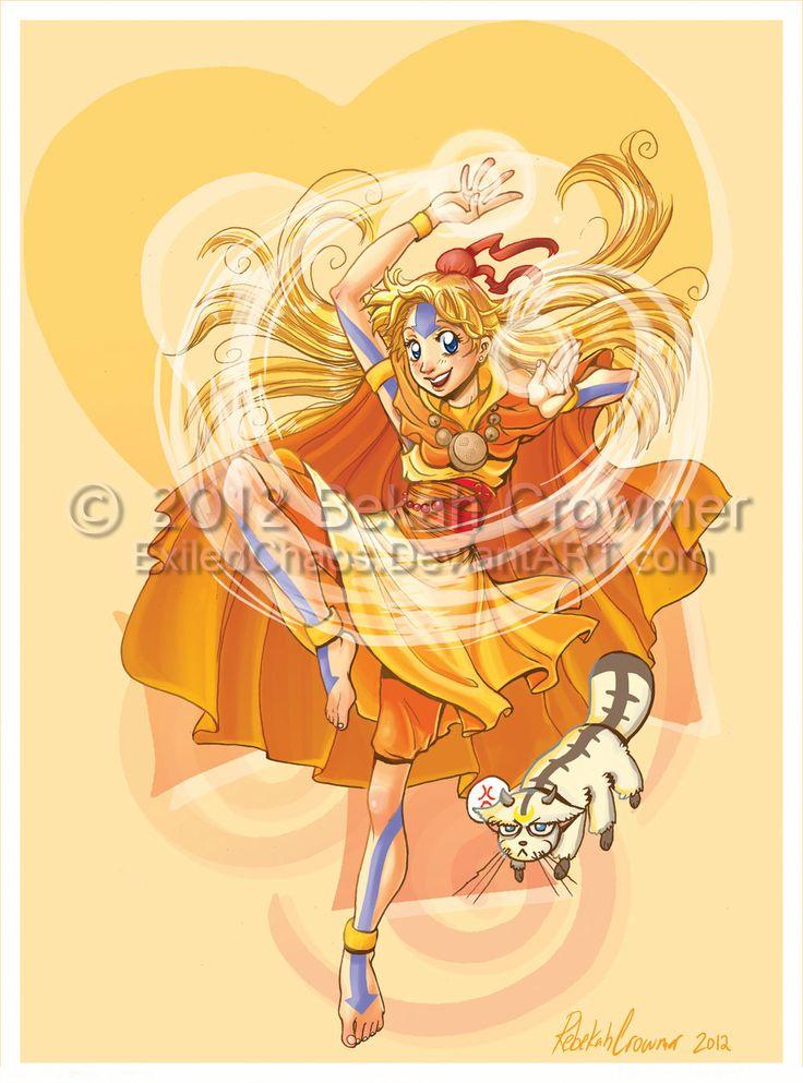 Sailor Avatar: Airbender Minako by ExiledChaos.deviantart.com on @deviantART
