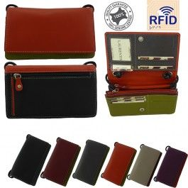 New Genuine Leather Full Grain Womens Fashion Satchel Cross Body Small Slig Bag Multi Colours RFID Protected Handbag Stylish